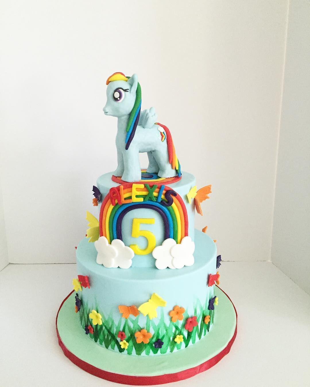 Rainbow Dash My Little Pony birthday cake by RooneyGirl BakeShop