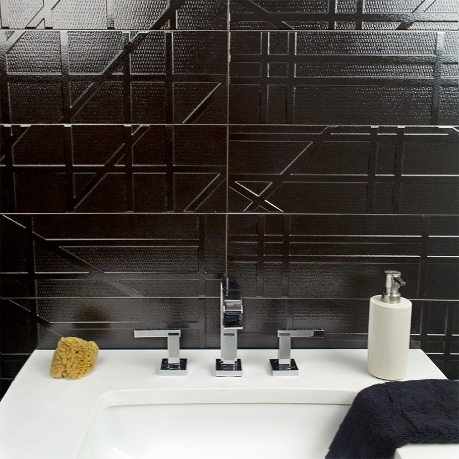 bestile futura nero 6x20 porcelain tile | tilebar | ff&e
