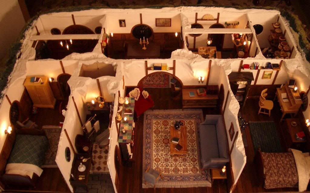 An interpretation of Bilbo Baggins' House Floor Plan | The hobbit, House layouts, House