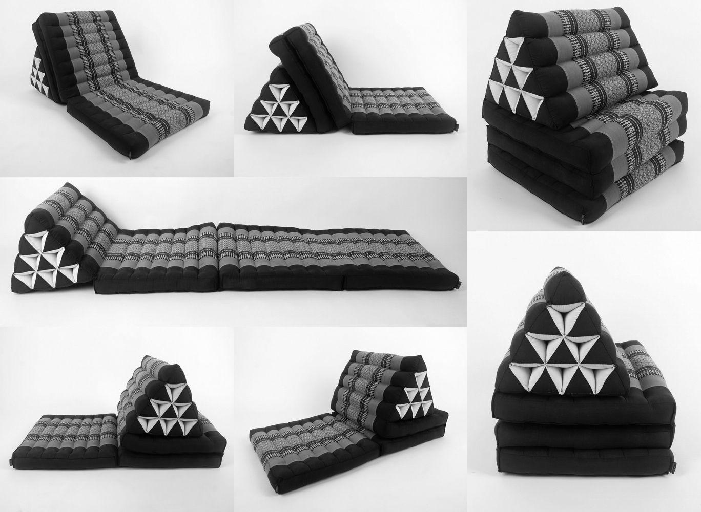 Thai Outdoor Cushion Mattress Cushion Thai Decor Triangle Pillow