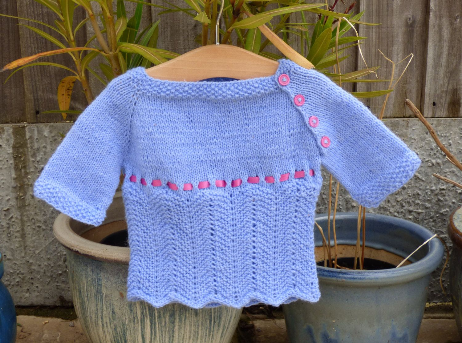 Knitting Pattern Baby Child Sweater Jumper 4 ply a Top ...