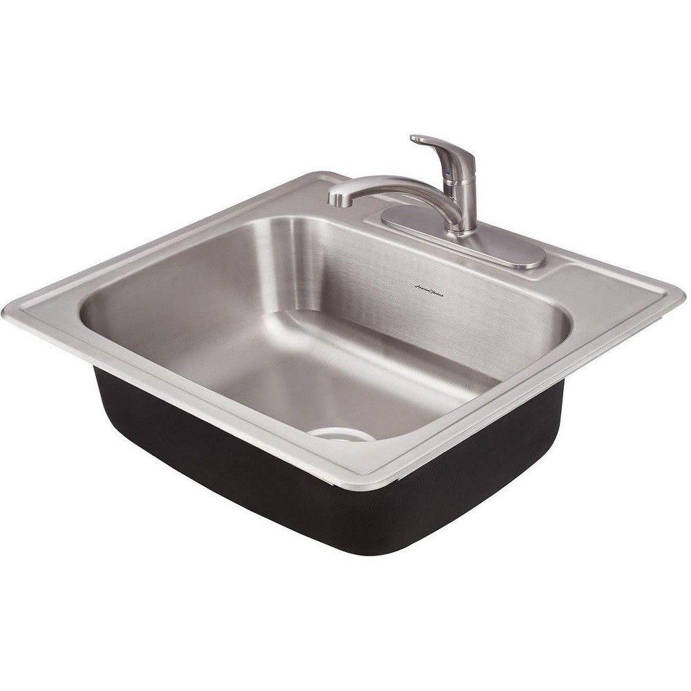 American Standard 22sb 6252283c Colony 25 Single Basin Stainless