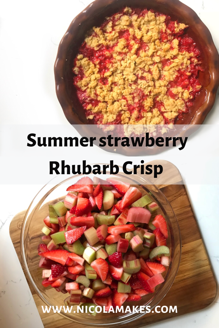 Strawberry Rhubarb Crisp — Nicola Makes