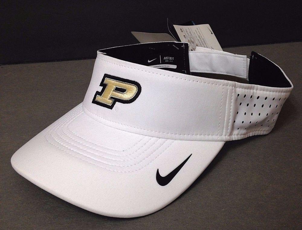 New 24 Nike®Dri-Fit PURDUE BOILERMAKERS SUN VISOR Boilers Golf Hat Dry  Men Women  Nike  PurdueBoilermakers 70dea63aa66