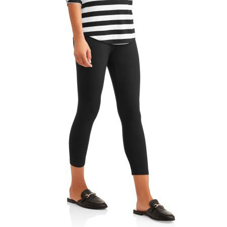 304d19856c8e0 Time and Tru Women's Capri Legging - Walmart.com Capri Leggings, Large Black ,
