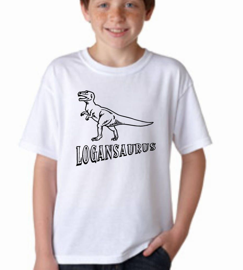 ce62f64cd Dinosaur shirt, personalized dinosaur shirt, kids T Rex t shirt, coloring  shirt, add your own color, dinosaur name, dinosaur birthday tee by  ElainesCrafts ...