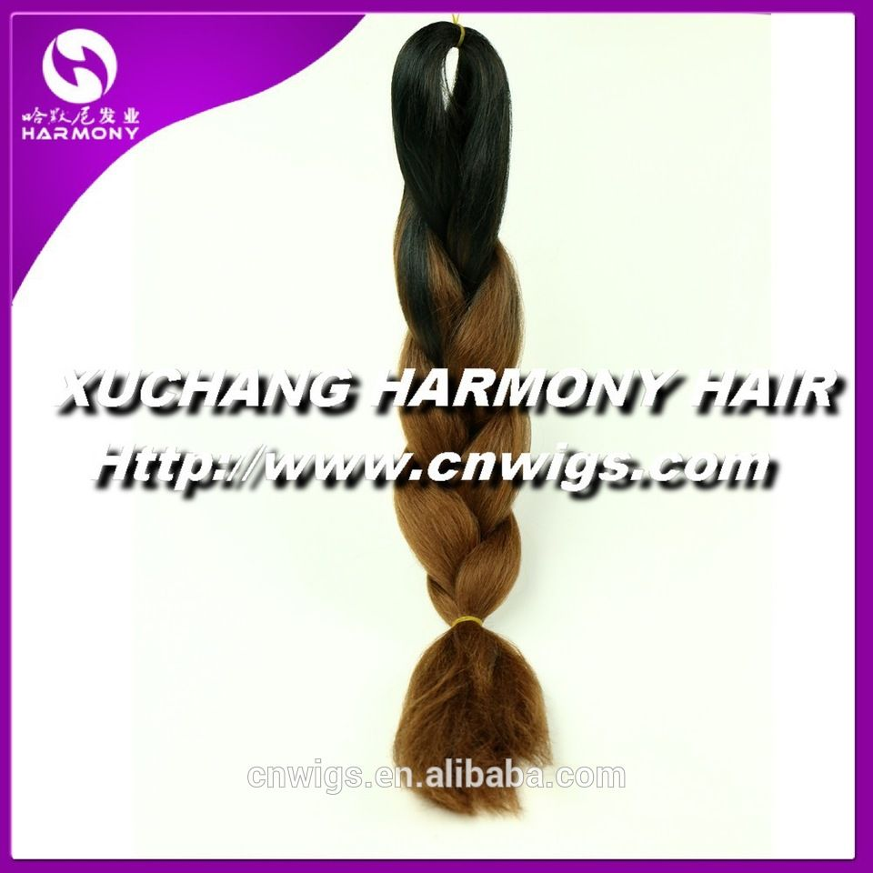 Always IN STOCK colorful ombre colored braiding hair wholesale