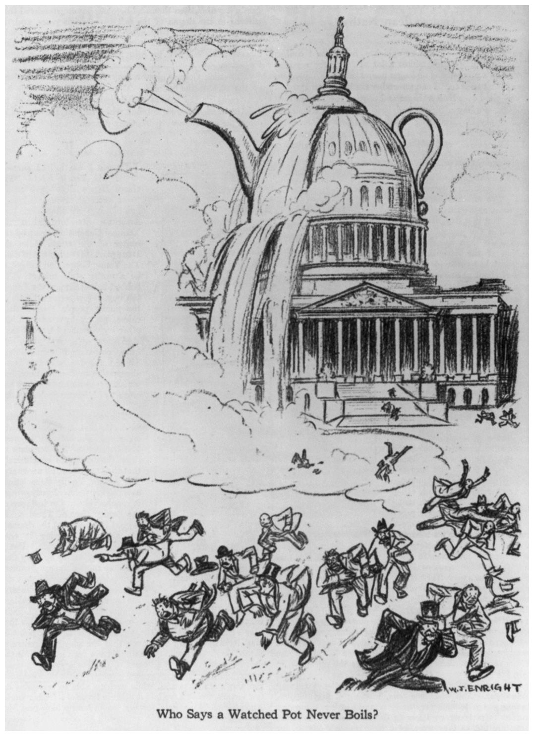 Another Teapot Dome Caricature The Harding And Coolidge Cabinets