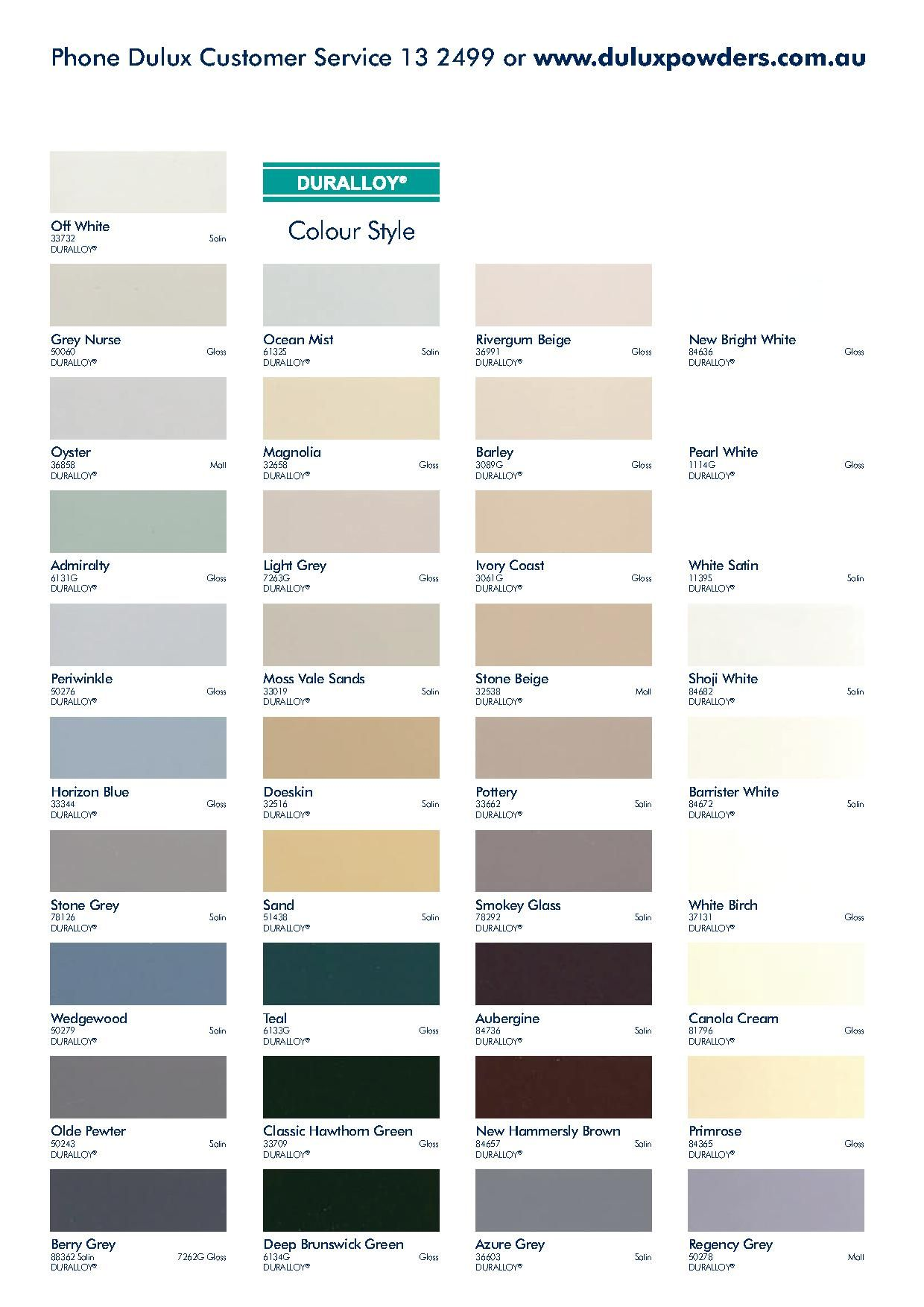 Dulux colour chart for the home pinterest dulux colour chart dulux colour chart ccuart Gallery