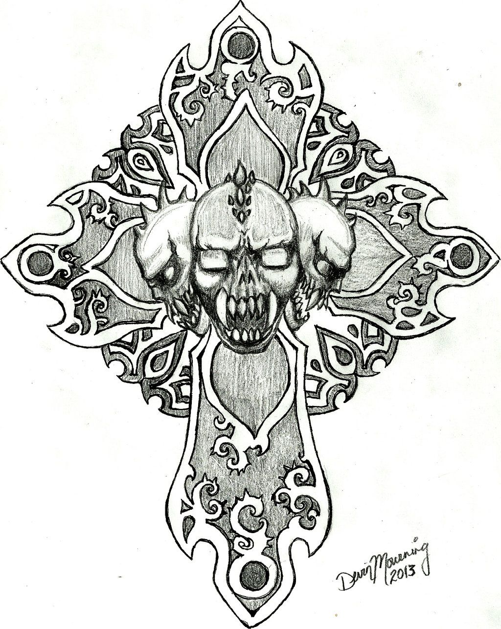 Drawings Of Skulls And Crosses Viewing Gallery Cross