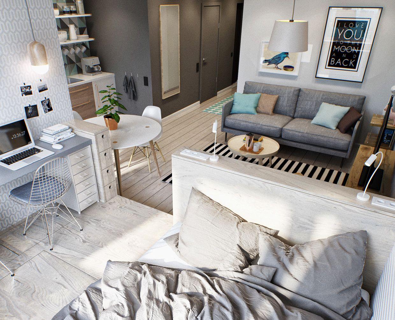 Kleine Wohnung Modern Und Funktionell Einrichten 1 Zimmer