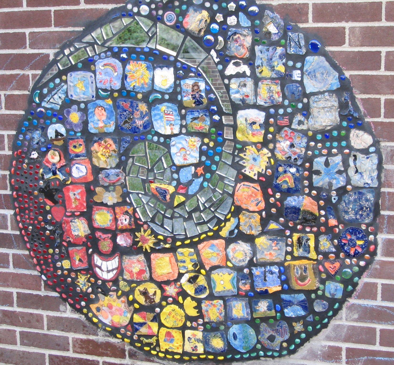 Clay Tile Murals Kids Mosaics School