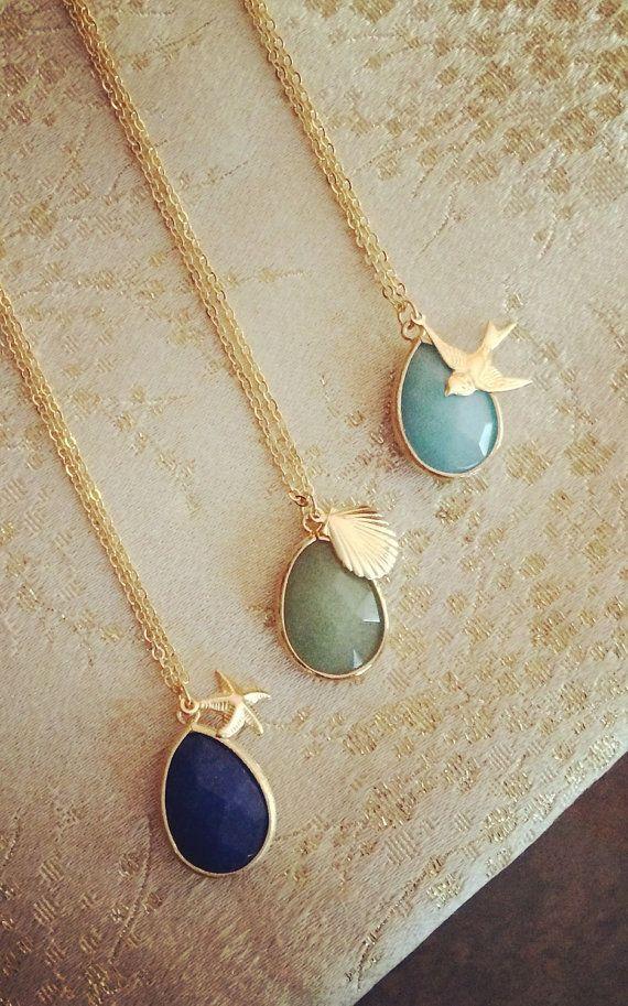 Multi-Charme-Halsketten-Geschenke für ihre Brautjungfer Geschenke Schmuck Geschenk Brautjungfer Schmuck Hochzeit Partei Limonbijoux
