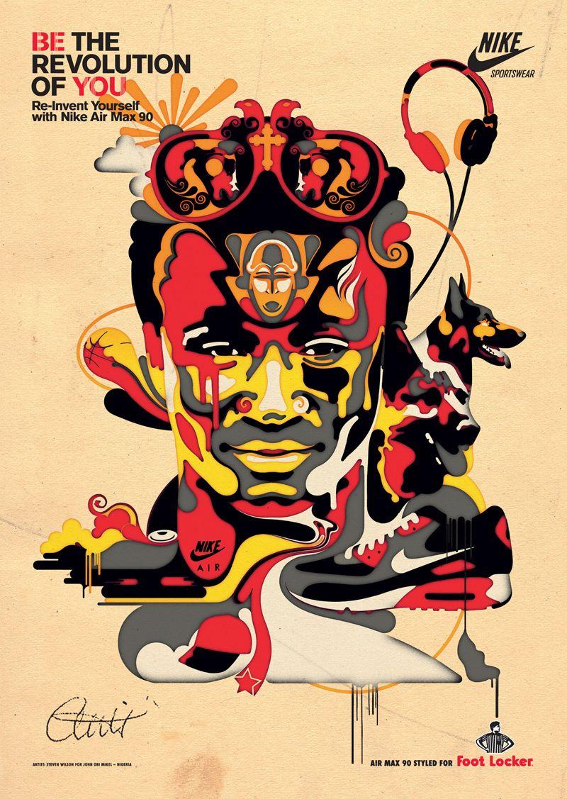 Design poster yourself - Illustration By Steven Wilson Illustration Design Jonobimikel Football Chelsea Advetising