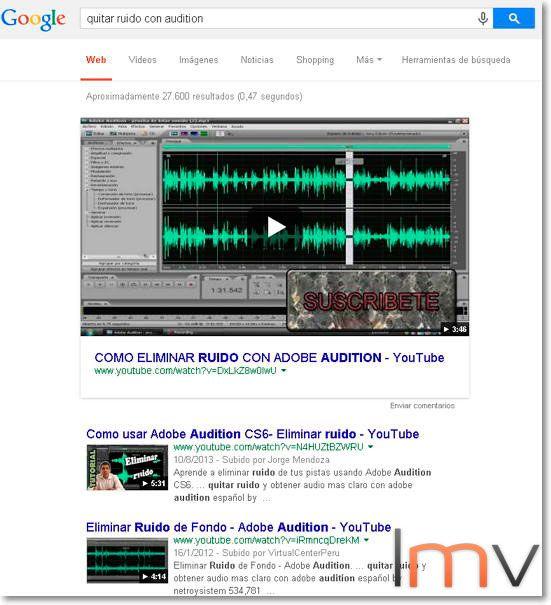 quitar el ruido vídeos youtube