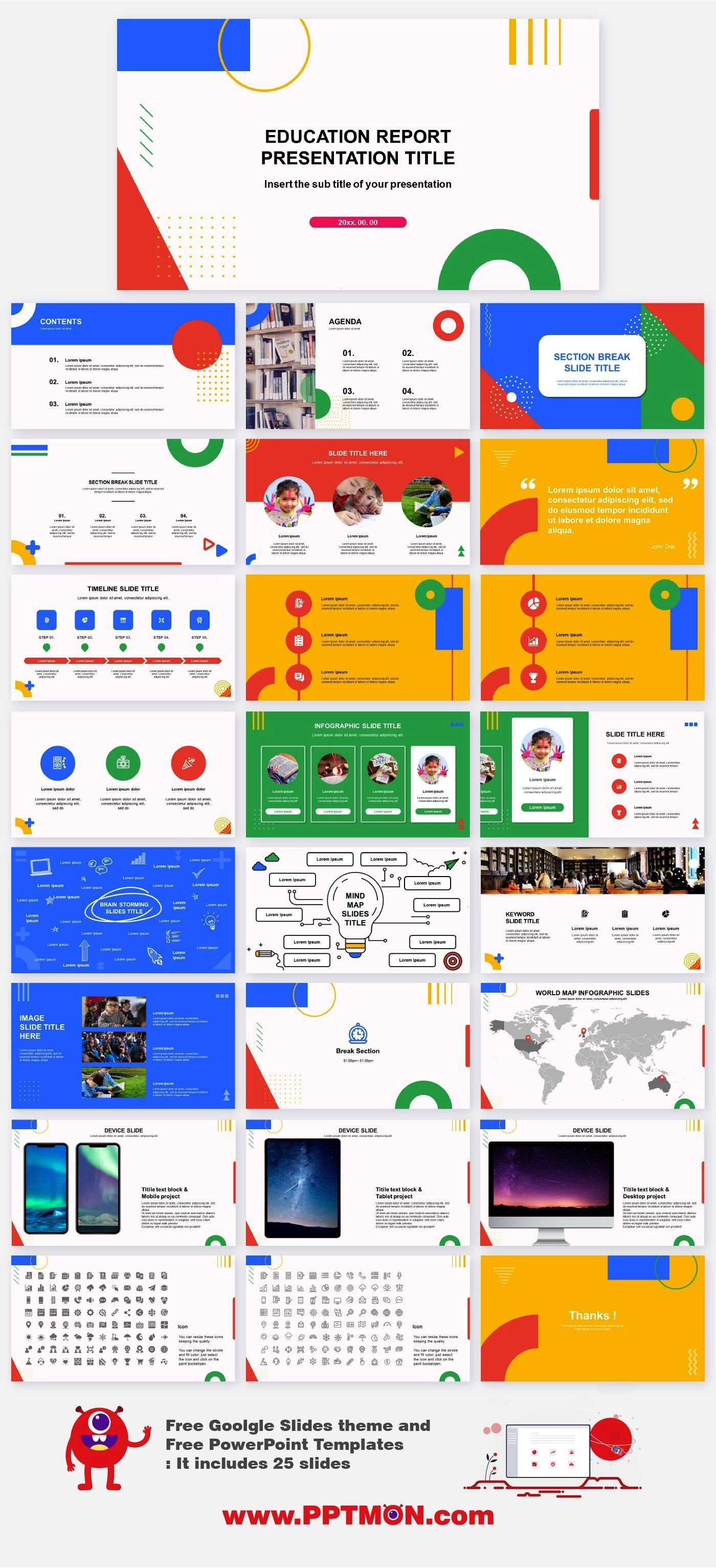 Education Free PowerPoint and Google slides templates Features 25 Best PowerPoint templates and Google sldies theme Easy and fully editable in powerpoint  Google slides 2...