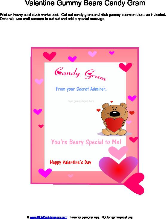 valentine's day gummy bear candy gram | spring holidays, Ideas