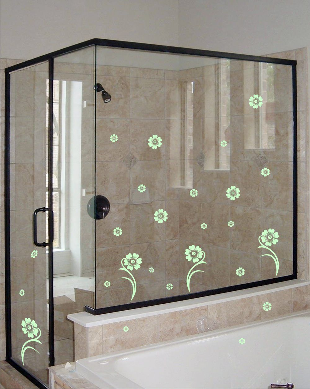 Shower door vinyl decal 28 prettify your shower door with this charming shower door vinyl