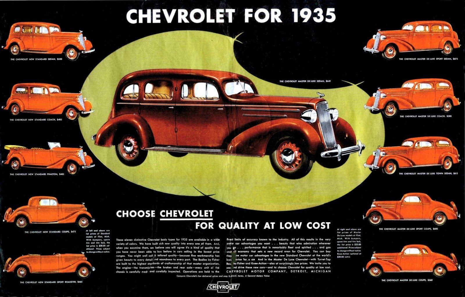 Murrell Bros Chevrolet 1935 Chevrolet Automobile Advertising Chevrolet Usa