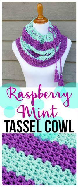 Free Crochet Pattern...Raspberry Mint Tassel Cowl | Moogly Community ...
