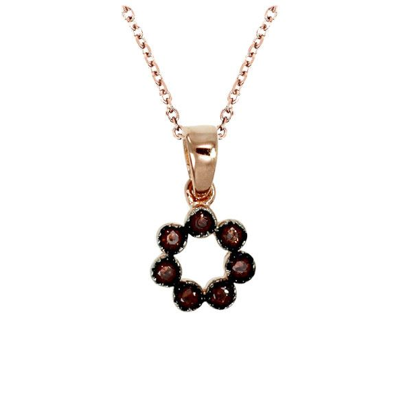 Petite Chocolate Bezel Pendant in Rose Gold Over Sterling Silver, $45