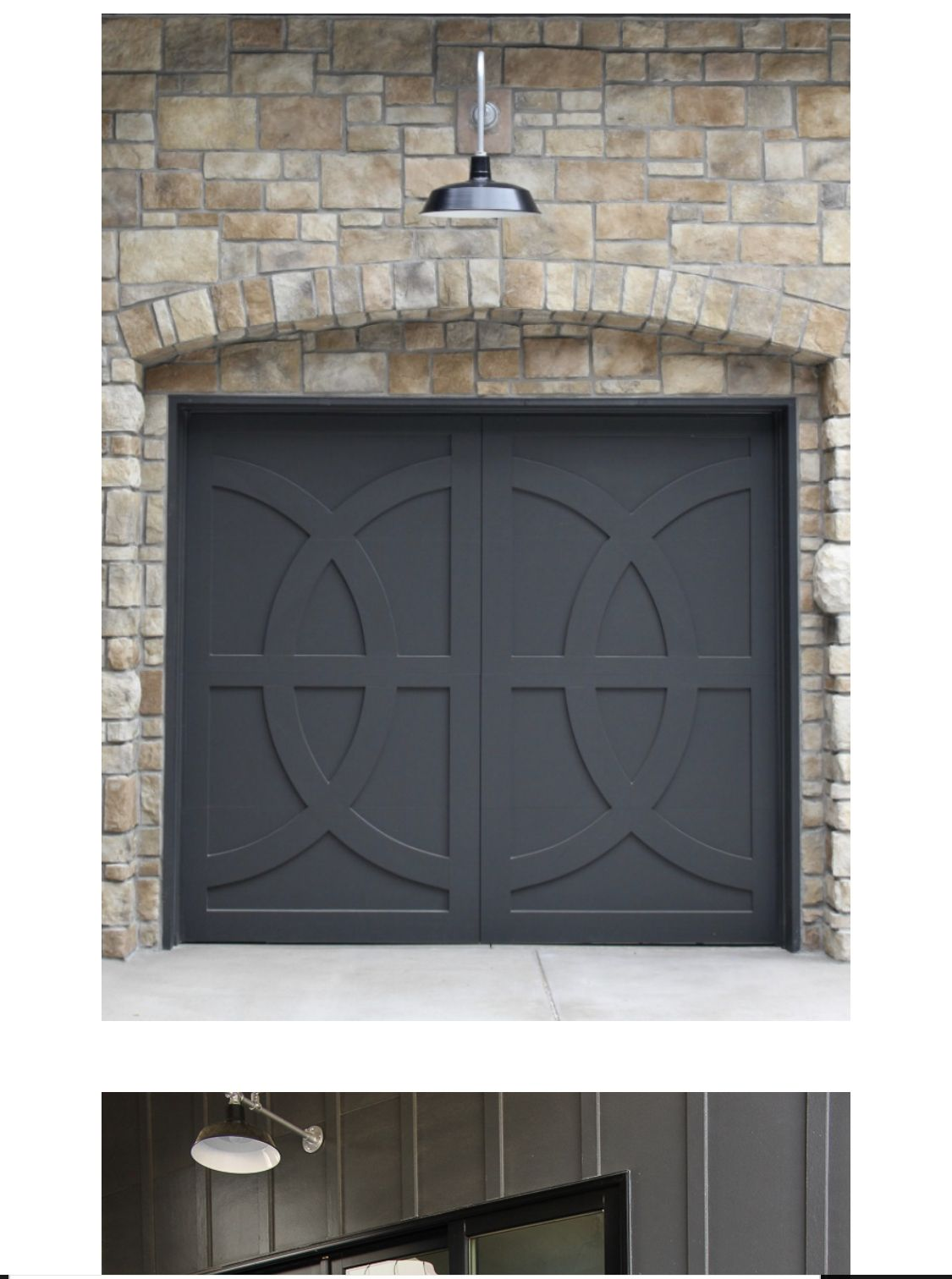 Sherwin Williams Iron Ore In 2020 Modern Garage Doors Garage Door Design Black Garage Doors