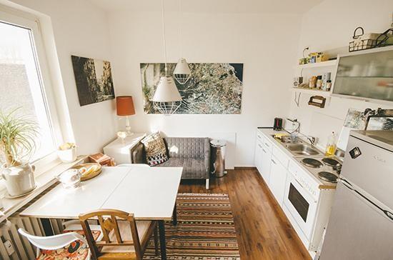 Küchen Idee gemütlich eingerichtete küche mit weißen fronten schränken und