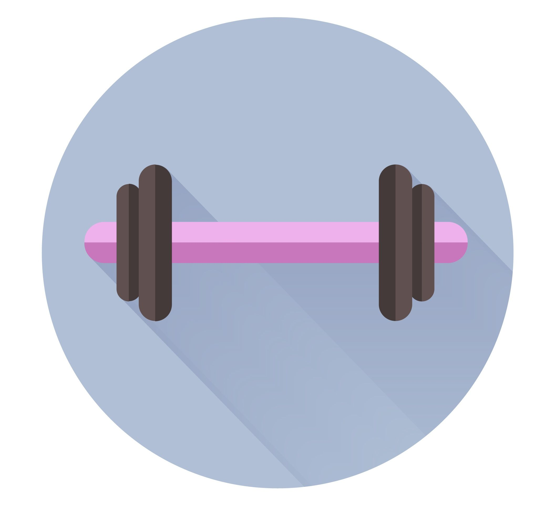 Barbell by Inge L Skillshare projects, Projects, Flat design