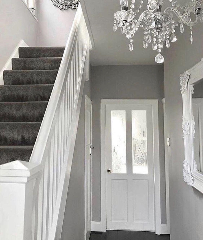 Pin by Cataleya on Flur Hallway decorating, Grey hallway