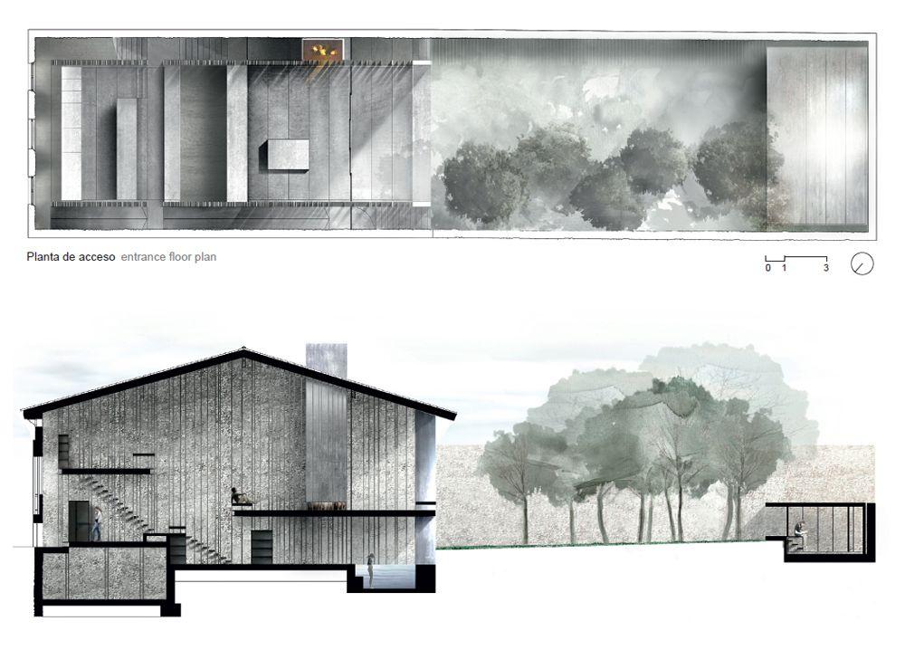 Rcr arquitectes casa entremuros en olot gerona for Plan de arquitectura