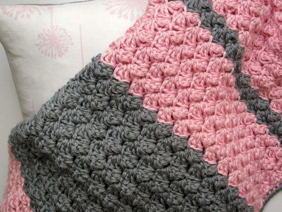 Chunky Preppy Baby Reversible Crochet Blanket Pattern Crochet