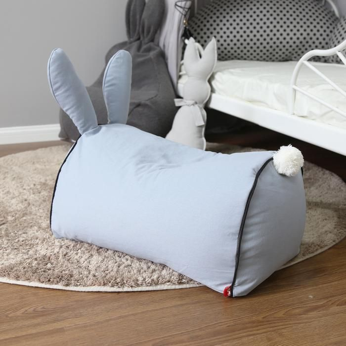 Toddlers love to mark their territory with their favorite piece of furniture. Bunny Beanbag Sofa would be an adorable addition to the nursery and the subtle colors available would match the room of any color scheme. The bunny ears add more fun to the sofa, where the kids can use it as a riding play game. The soft textu