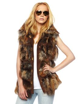 Michael Kors Fox Fur Lodge Vest