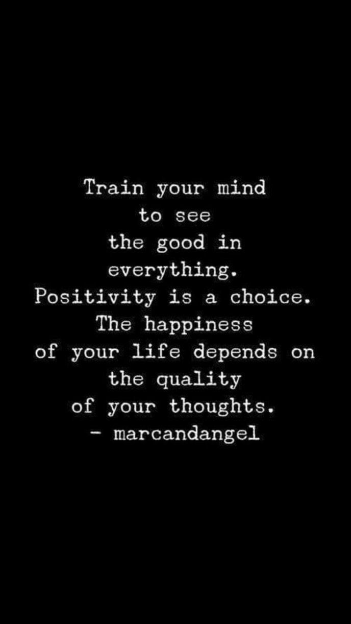 The quality of your thoughts.