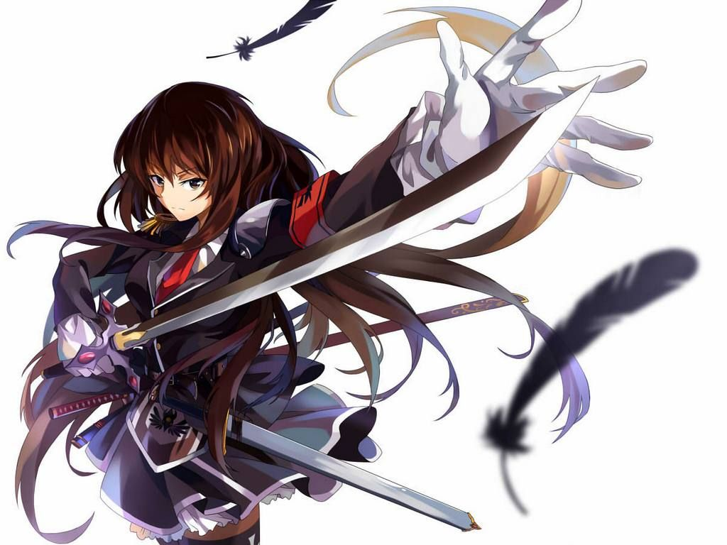 Anime guy sword fighting