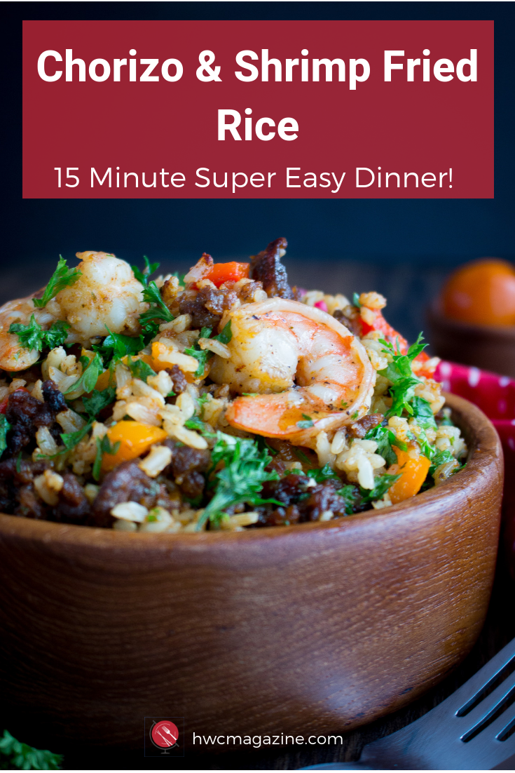 Chorizo and Shrimp Fried Rice #spanishmeals