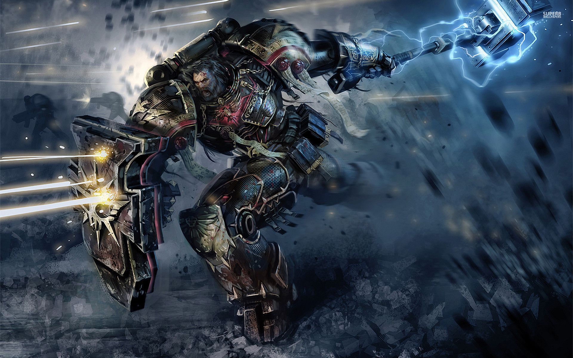 Space Marines Wallpaper Space Marine Warhammer Warhammer 40k Artwork