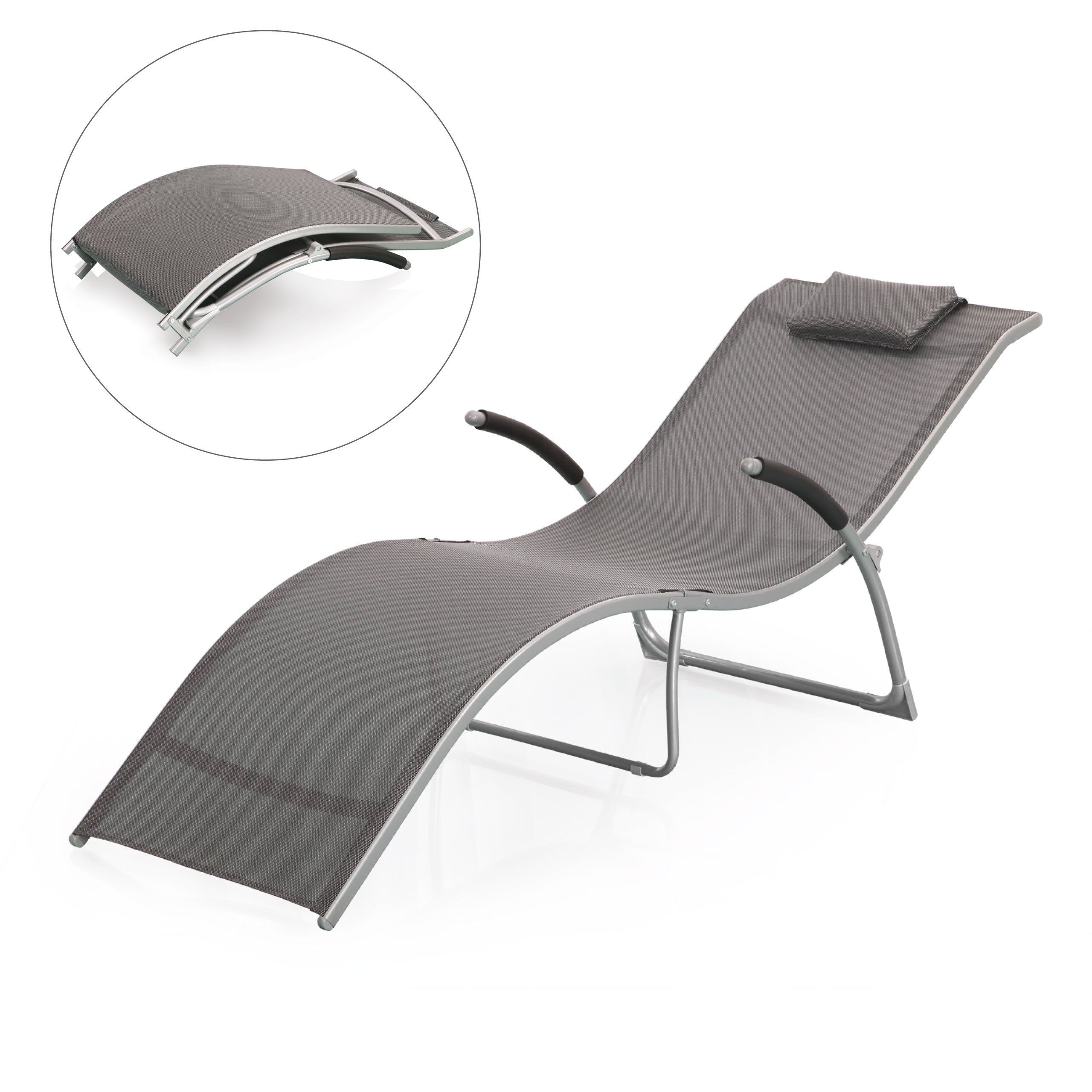 space saving patio furniture. £50 Jarder Foldable Reclined Sun Lounger - Space Saving Garden, Patio Furniture: Furniture