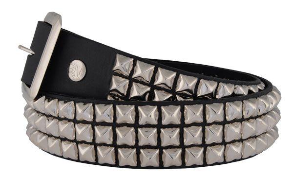 Green Pyramid Studded Punk Goth Thrash Snap Off Belt Heavy-duty Made In USA