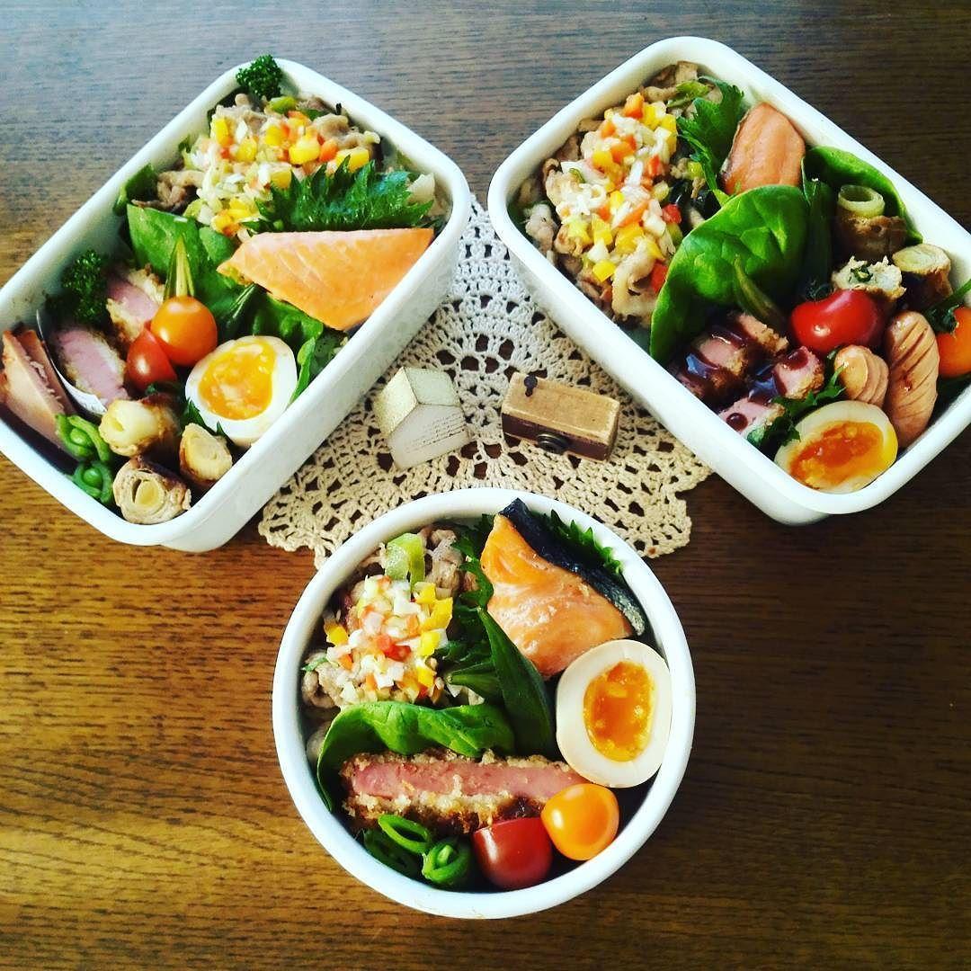 Instagram Photo By Msphoto Apr 20 2016 At 3 24am Utc レシピ 焼き鮭 ハムカツ