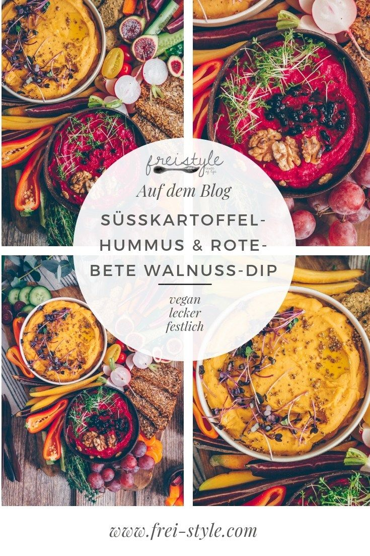 Weihnachtsmenü Teil II - Süsskartoffel-Hummus & Rote-Bete Walnuss-Dip * Freistyle