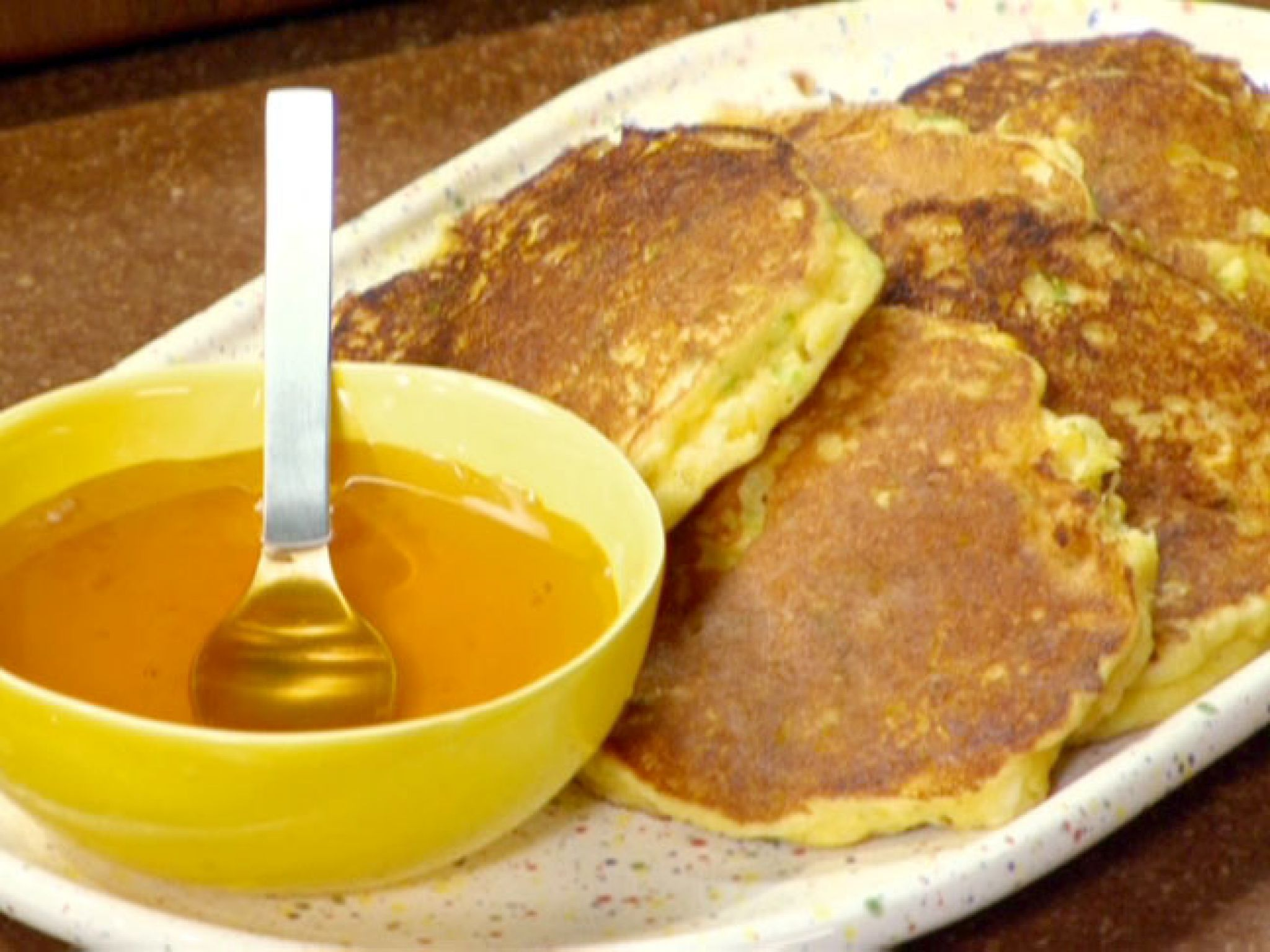 Corn cakes with honey recipe food network recipes