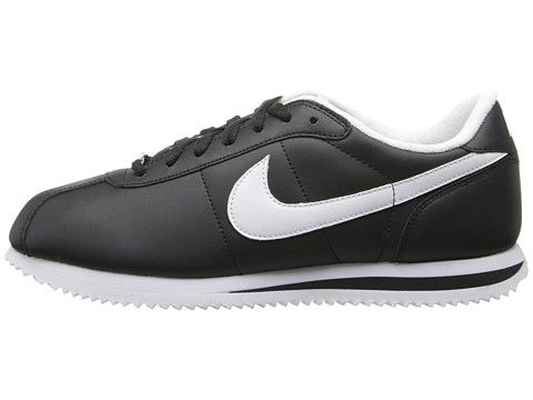 good quality release date: best Nike Cortez Leather Black/White/White - Zappos.com Free ...