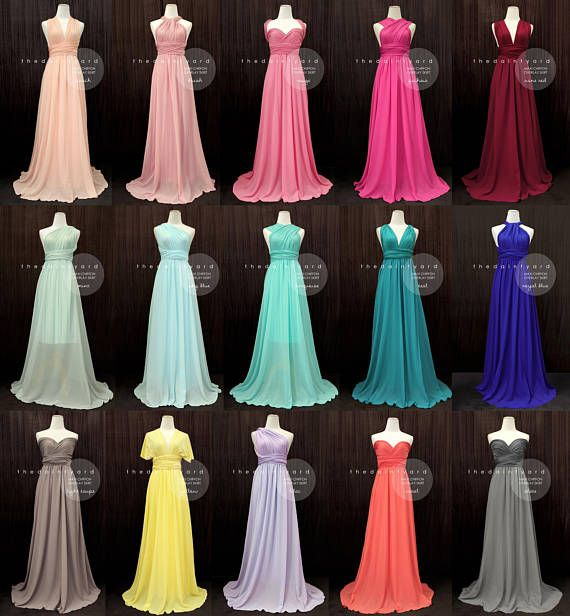 Chiffon Infinity Dress: TDY Bridesmaid Maxi Infinity Dress / Multiway Dress / Long