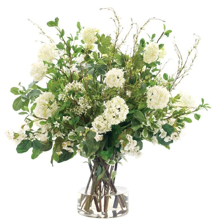Mixed Snowball Blossoms. Great for a foyer, credenza or table top. They look so real!