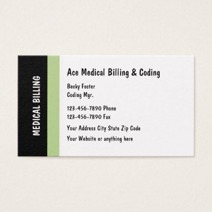 Medical Billing And Coding Modern Design Business Card  Modern