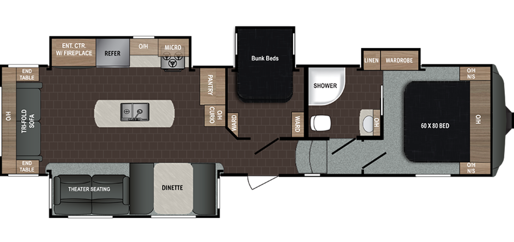 The Atlas Is A Modern And Fully Featured Lineup Of Fifth Wheels And Travel Trailers Designed To Give Families Fifth Wheel Campers Campers For Sale Fifth Wheel