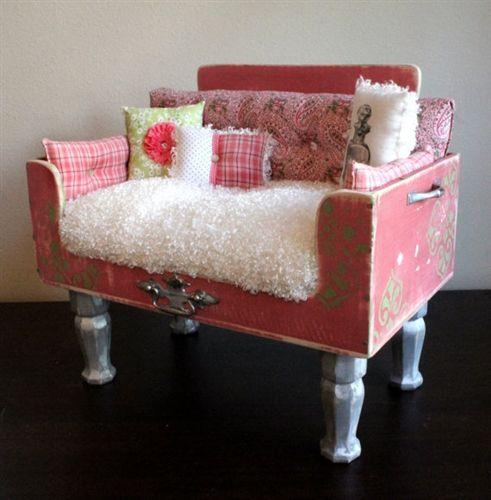 Shabby Chic Luxury Designer Just Peachy Dog Bed