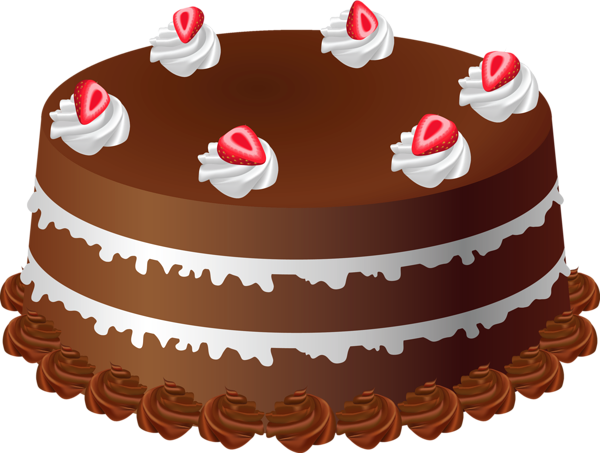 Chocolate Cake Art PNG Large Picture Bolos de