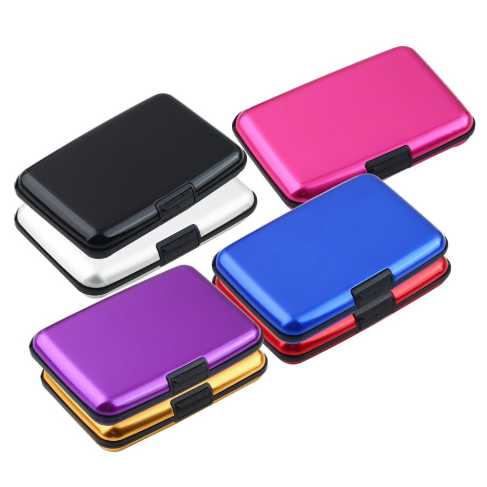 1pcs waterproof business id credit card wallet holder aluminum metal 1pcs waterproof business id credit card wallet holder aluminum metal case glossy box 2016 fashion colourmoves